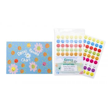 Motivational Smile Face Stickers - 320 Pack