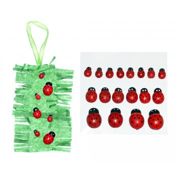Wooden Ladybirds - 18 Pack
