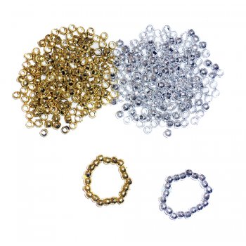 Gold Pony Beads - 100 Pack