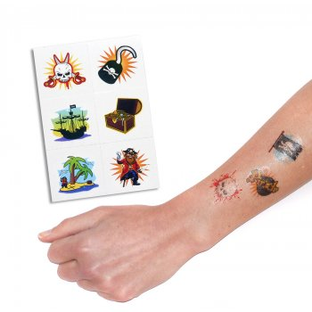 4cm Pirate Tattoos