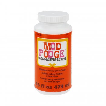 Mod Podge Gloss Finish Glue And Varnish - 16oz