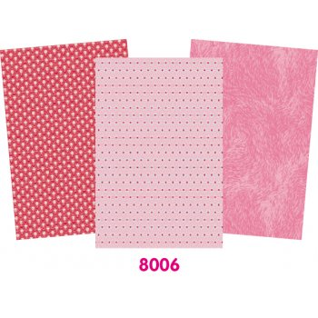 Decopatch Pink Paper Pack - 3 Half Sheets Plain and Patterned