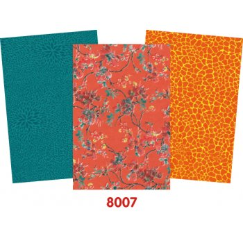 Decopatch Bright Paper Pack - 3 Half Sheets, Floral, Mottled, Plain