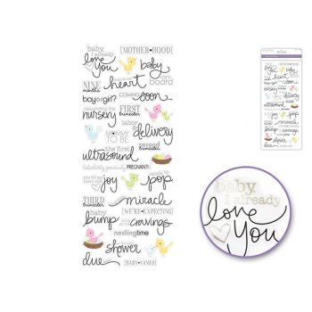 Themed Clear Stickers - Mum To Be