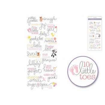 Themed Clear Stickers - Baby Girl