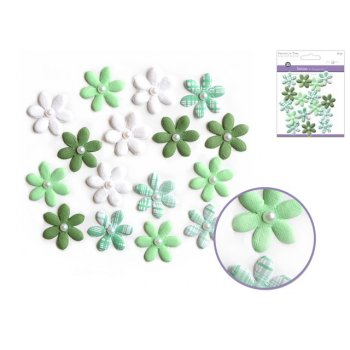 Paper Flowers - Emerald (16 Pack)