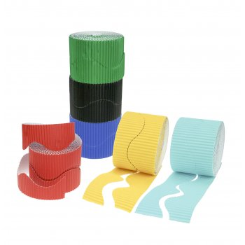 Bright Colours Corrugated Border Pack - 6 Pack