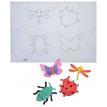 Bug And Ladybird Colour In Cutouts - 12 Pack