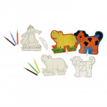 Animal Pals Wooden Pictures - 3 Pack