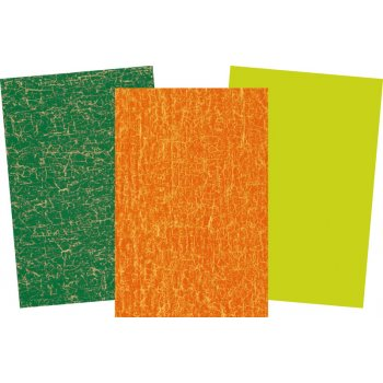 Decopatch Orange Paper Pack - 3 Half Sheets , Greens and Orange