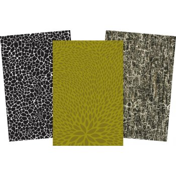 Decopatch Dark Paper Pack - 3 Half Sheets , Blacks and Green