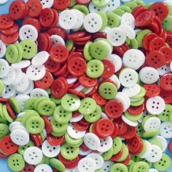 Festive Buttons - 200 Pack