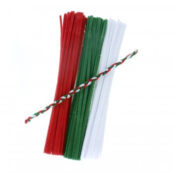 Festive Pipe Cleaners - 100 Pack
