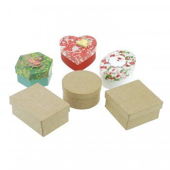 Paper Mache Box Set - 12 Pack