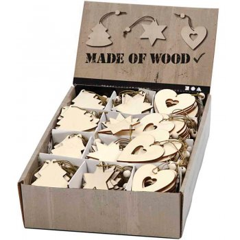 Wooden Christmas Decoration Pack - 200 Pack