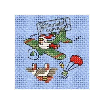 Cross Stitch Kit - Santa's Airdrop