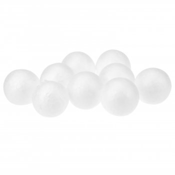 Solid Styrofoam Balls - 40mm (10 Pack)