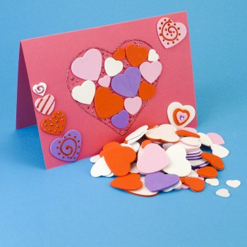 Foam Heart Stickers