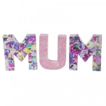 Small Paper Mache Letters - MUM