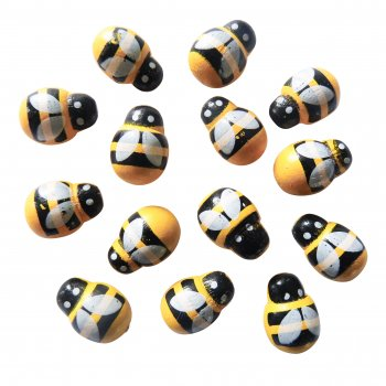Wooden Bee Stickers - 30 Pack