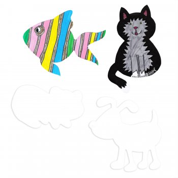 Pets Card Cutouts - 4 Pack