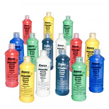 Ready Mixed Washable Paint Value  Pack - 20 x 600ml