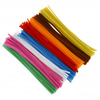 Single Colour Pipe Cleaner Pack - Pink (100)