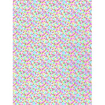 Decopatch Paper 690 - Half Sheet - Bright Coloured Stars