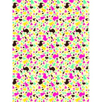 Decopatch 682 (Bright Coloured Rabbits & Chicks)