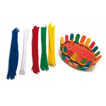 Assorted Coloured Pipe Cleaners - Pack of 100