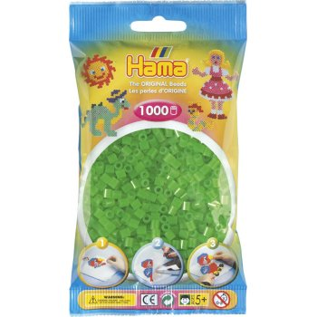 Hama Beads Solid Colours 1000 Pack - 37 Neon Green