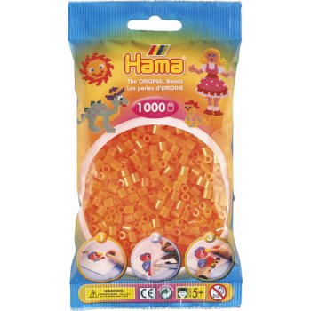 Hama Beads Solid Colours 1000 Pack - 38 Neon Orange