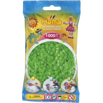 Hama Beads Solid Colours 1000 Pack - 42 Fluorescent Green