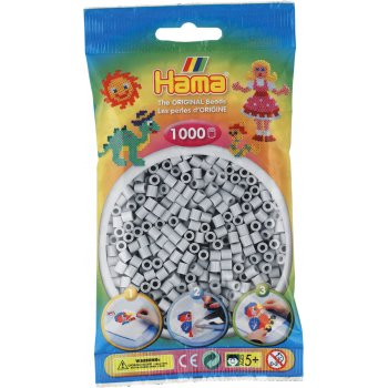 Hama Beads Solid Colours 1000 Pack - 70 Light Grey