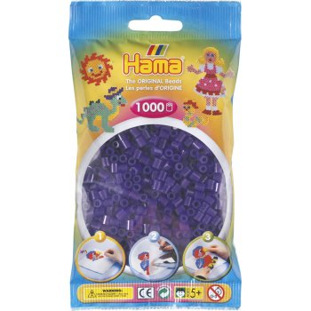 Hama Beads Solid Colours 1000 Pack - 24 Translucent Purple