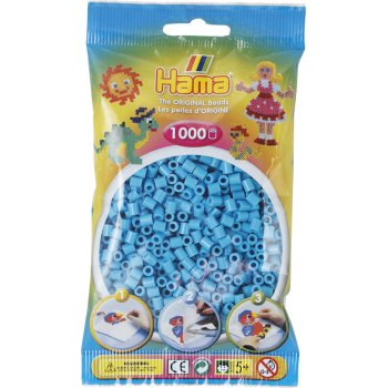 Hama Beads Solid Colours 1000 Pack - 49 Azure