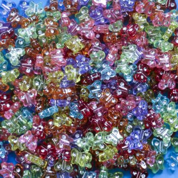 Jewel Butterfly Beads -Pack Of 400