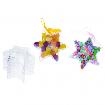 Clear Acrylic Stars - 100mm 5 Pack