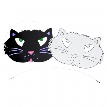 Colour In Cat Masks - Pack of 5