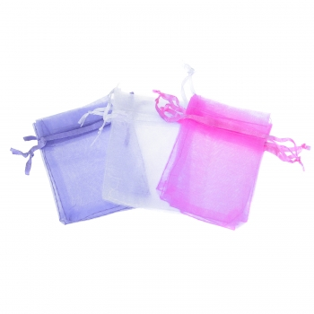 Organza Bags - 100 Pack - Purple