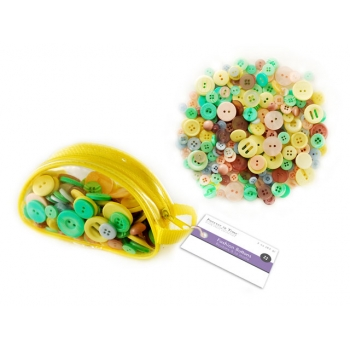Fashion Buttons Bright Pastel Colours