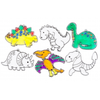 Dinosaur Suncatchers - Pack of 6