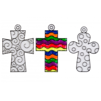 Cross Suncatchers - Pack of 3