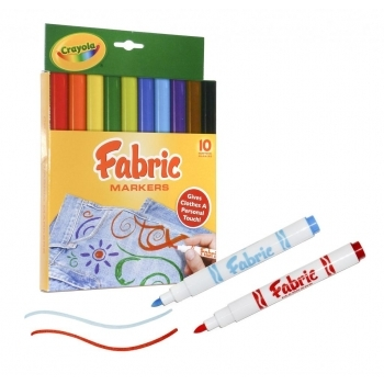 Crayola Fabric Pens - 10 Pack
