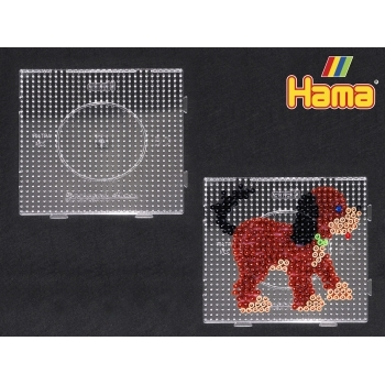 Large Hama Pegboards - Clear Square
