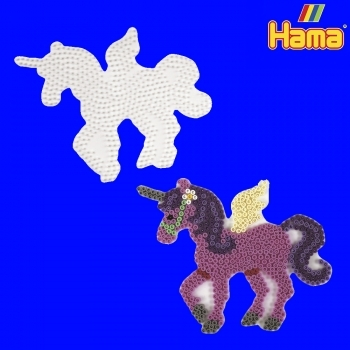 Large Hama Pegboards - Unicorn