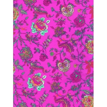 Decopatch Paper 711 - Half Sheet - Bright Pink Floral