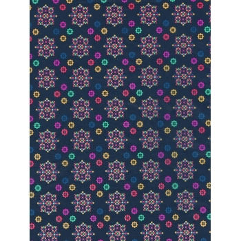 Decopatch Paper 704 - Half Sheet -  Navy and Brights