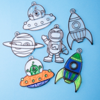 Outer Space Suncatchers - Pack Of 4