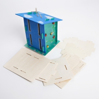 Wooden Butterfly House - (Clip Fit - No Glue)